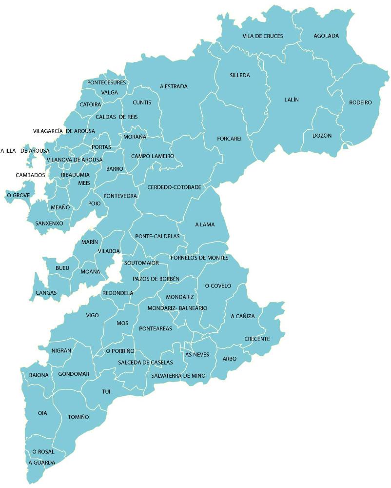 Salceda De Caselas Mapa.Concellos Fegamp