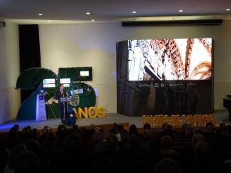 Feijóo falando no CGAC con motivo do 25 aniversario da declaración do Camiño Francés como Patrimonio Mundial pola UNESCO