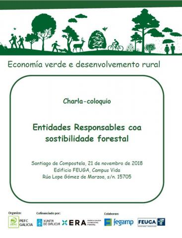 Cartel da charla - coloquio Entidades Responsables coa Sostibilidade Forestal