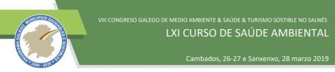 CARTEL VIII CONGRESO GALEGO DE MEDIO AMBIENTE & SAÚDE & TURISMO SOSTIBLE NO SALNÉS
