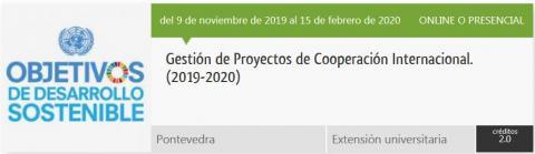 Imaxe do Curso xestión de proxectos de cooperación internacional