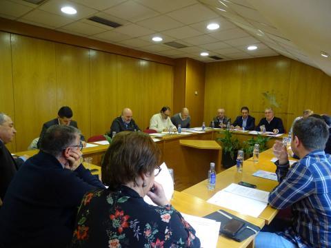 imaxe da comisión executiva reunida na sede da fegamp no mes de decembro