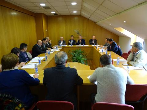 imaxe dos alcaldes/esas na comisión executiva de novembro de 2018 na sede da fegamp