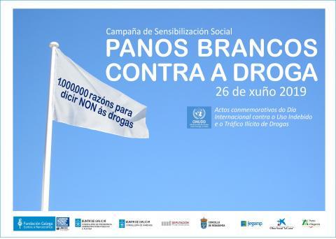 Cartel campaña Panos Brancos contra a droga 2019