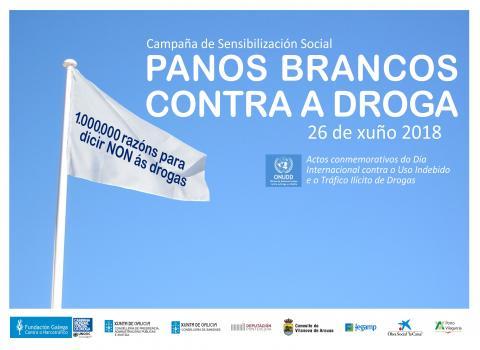 Cartel campaña Panos Brancos contra a droga 2018