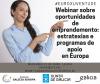 Cartel webinar oportunidades emprendemento